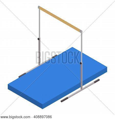 Gymnastics Bar Icon. Isometric Of Gymnastics Bar Vector Icon For Web Design Isolated On White Backgr