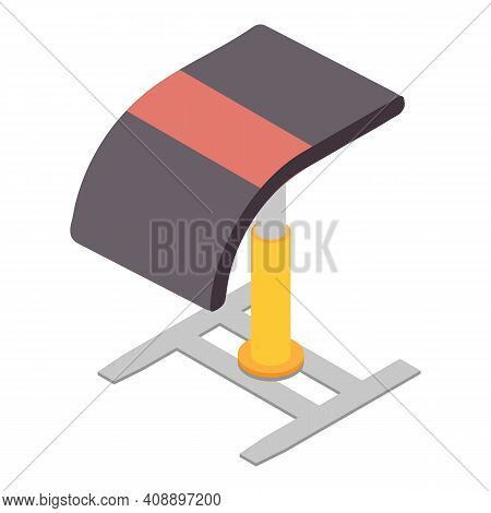 Gymnastics Equipment Icon. Isometric Of Gymnastics Equipment Vector Icon For Web Design Isolated On