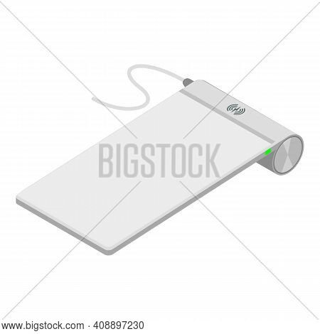Wireless Charger Icon. Isometric Of Wireless Charger Vector Icon For Web Design Isolated On White Ba