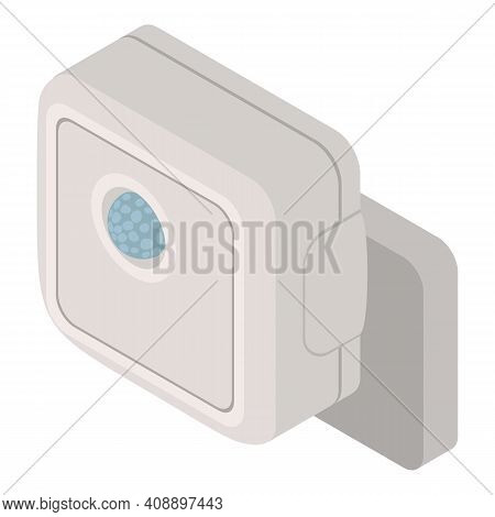 Alarm Motion Sensor Icon. Isometric Of Alarm Motion Sensor Vector Icon For Web Design Isolated On Wh