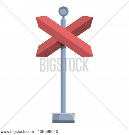 Stop Sign In Subway Icon. Cartoon Of Stop Sign In Subway Vector Icon For Web Design Isolated On Whit