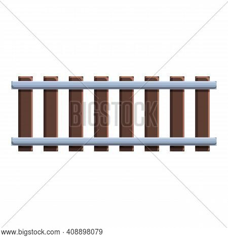 Rails Top View Icon. Cartoon Of Rails Top View Vector Icon For Web Design Isolated On White Backgrou