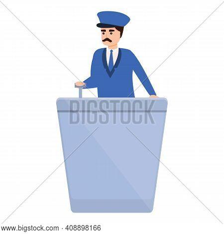Metro Dispatcher Icon. Cartoon Of Metro Dispatcher Vector Icon For Web Design Isolated On White Back
