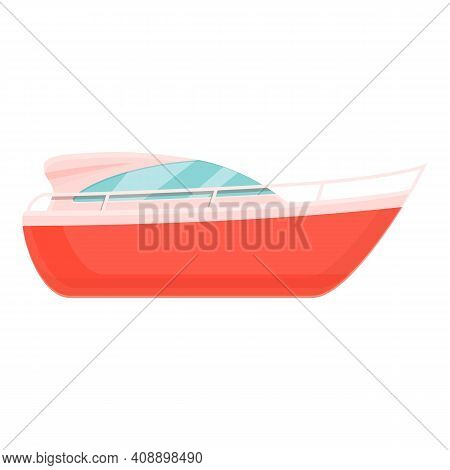 Bay Rescue Boat Icon. Cartoon Of Bay Rescue Boat Vector Icon For Web Design Isolated On White Backgr