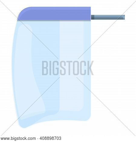 Guard Face Shield Icon. Cartoon Of Guard Face Shield Vector Icon For Web Design Isolated On White Ba