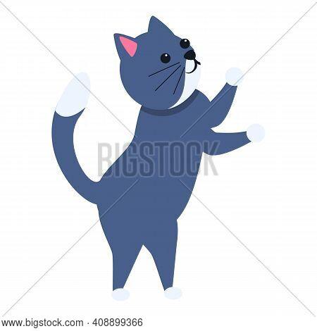 Cat Joke Icon. Cartoon Of Cat Joke Vector Icon For Web Design Isolated On White Background