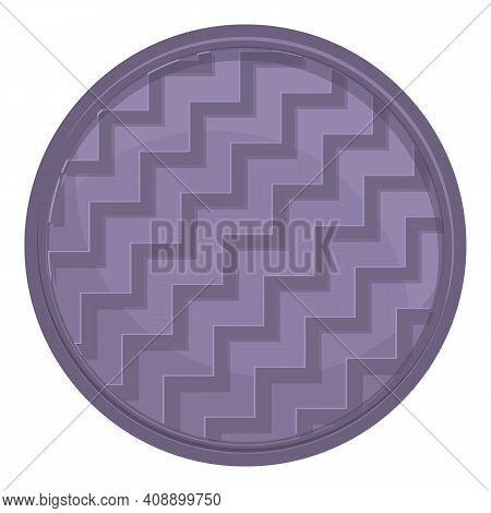 Dirty Manhole Icon. Cartoon Of Dirty Manhole Vector Icon For Web Design Isolated On White Background