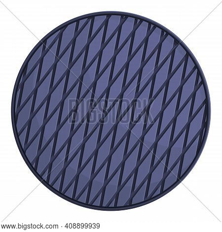 Maintenance Manhole Icon. Cartoon Of Maintenance Manhole Vector Icon For Web Design Isolated On Whit