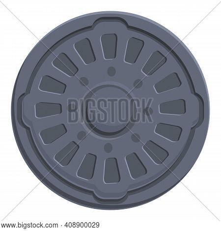 Obsolete Manhole Icon. Cartoon Of Obsolete Manhole Vector Icon For Web Design Isolated On White Back