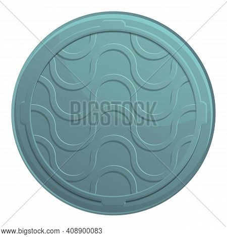 Urban Manhole Icon. Cartoon Of Urban Manhole Vector Icon For Web Design Isolated On White Background