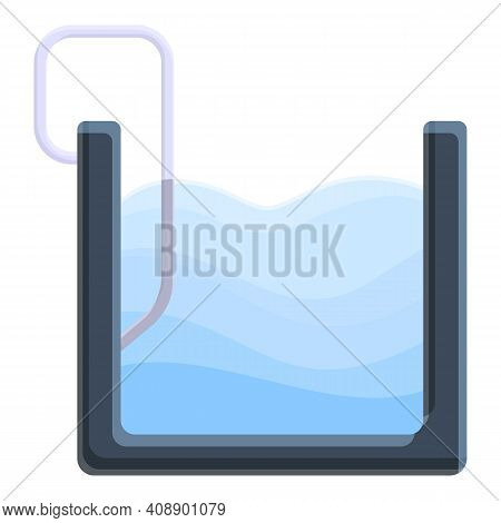 Swimming Pool In Section Icon. Cartoon Of Swimming Pool In Section Vector Icon For Web Design Isolat