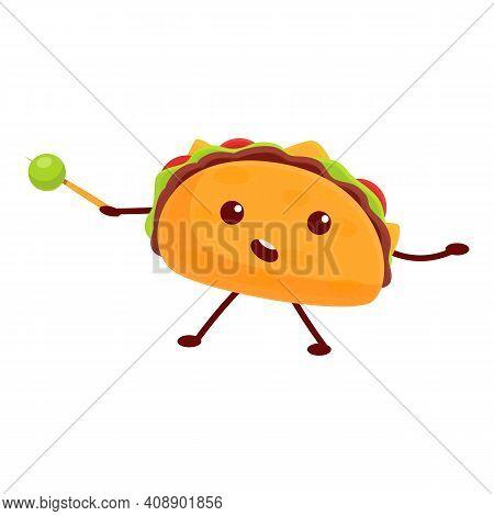 Fun Taco Icon. Cartoon Of Fun Taco Vector Icon For Web Design Isolated On White Background