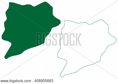Lower Siang District (arunachal Pradesh State, Republic Of India) Map Vector Illustration, Scribble