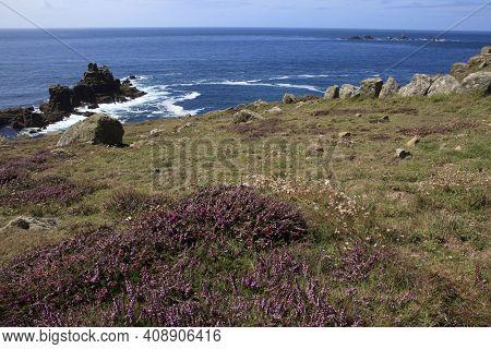 Land\'s End Area (england), Uk - August 16, 2015: The Land\'s End Area, Cornwall, England, United Ki