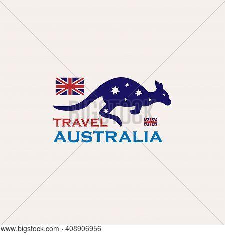 Illustration Australia Travel Design Logo Vector. Australia Design Logo Travel