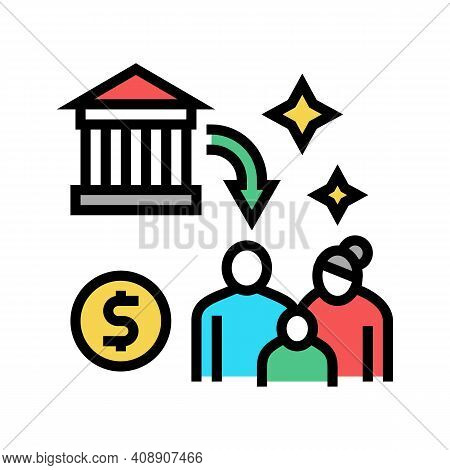 Social Benefits Color Icon Vector. Social Benefits Sign. Isolated Symbol Illustration