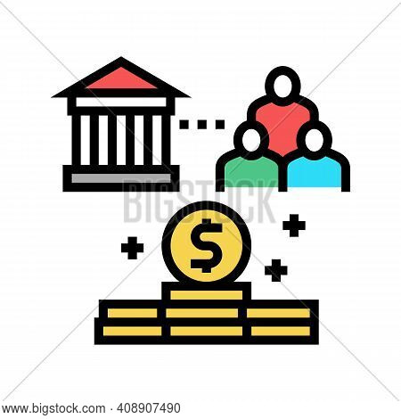 State Of People Benefits Color Icon Vector. State Of People Benefits Sign. Isolated Symbol Illustrat
