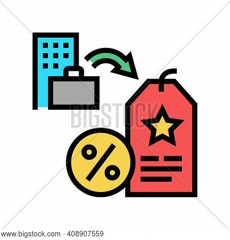 Staff Discount Benefits Color Icon Vector. Staff Discount Benefits Sign. Isolated Symbol Illustratio