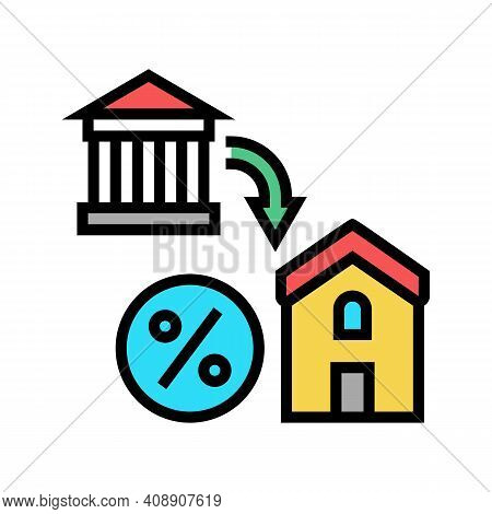 Housing Benefits Color Icon Vector. Housing Benefits Sign. Isolated Symbol Illustration