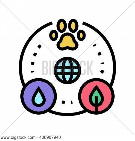 Biocenosis Ecosystem Color Icon Vector. Biocenosis Ecosystem Sign. Isolated Symbol Illustration