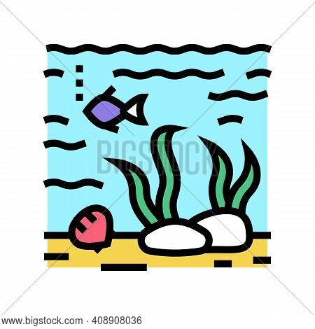 Hydrosphere Ecosystem Color Icon Vector. Hydrosphere Ecosystem Sign. Isolated Symbol Illustration