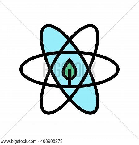 Atom Ecosystem Color Icon Vector. Atom Ecosystem Sign. Isolated Symbol Illustration