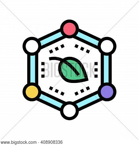 Plants Safe Color Icon Vector. Plants Safe Sign. Isolated Symbol Illustration