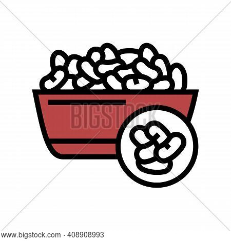 Beans Groat Color Icon Vector. Beans Groat Sign. Isolated Symbol Illustration