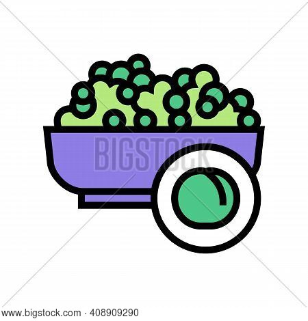 Peas Groat Color Icon Vector. Peas Groat Sign. Isolated Symbol Illustration