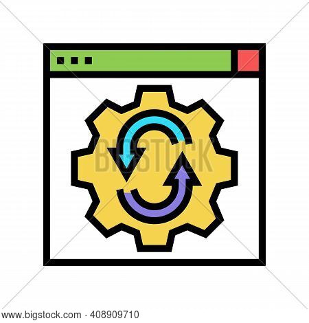 Web Site Optimize Color Icon Vector. Web Site Optimize Sign. Isolated Symbol Illustration