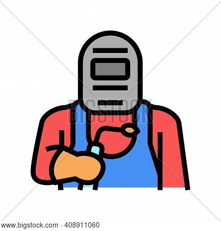 Welder Worker Color Icon Vector. Welder Worker Sign. Isolated Symbol Illustration