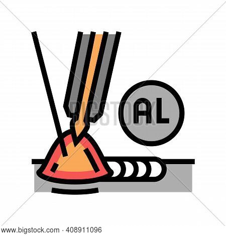 Aluminum Welding Color Icon Vector. Aluminum Welding Sign. Isolated Symbol Illustration