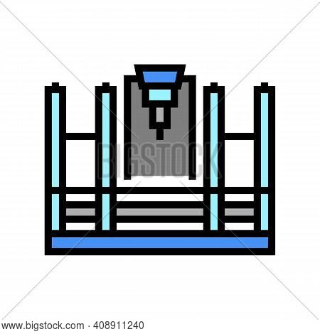 Butt Welding Machine Color Icon Vector. Butt Welding Machine Sign. Isolated Symbol Illustration