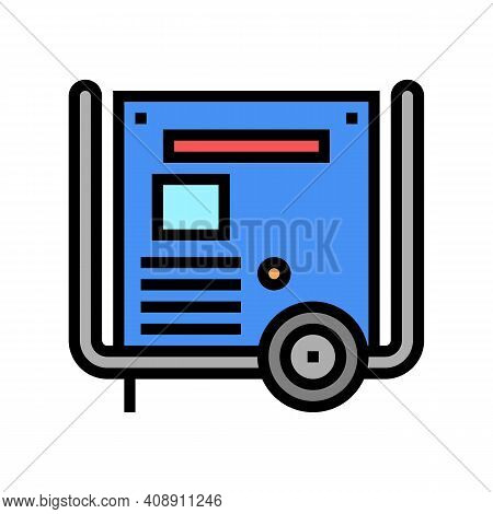 Transformer Electric Equipment Color Icon Vector. Transformer Electric Equipment Sign. Isolated Symb