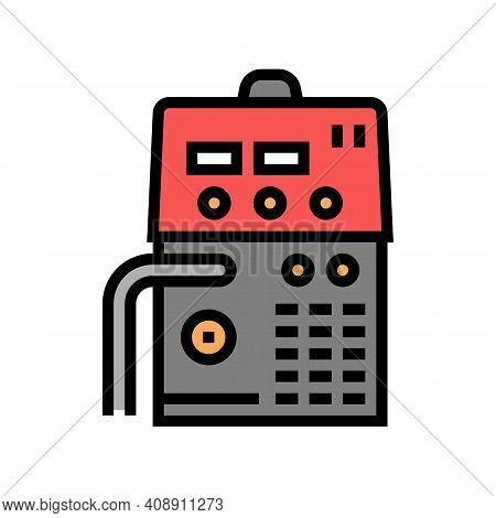 Semiautomatic Device Color Icon Vector. Semiautomatic Device Sign. Isolated Symbol Illustration