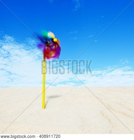 Colorwind propeller toy in sand