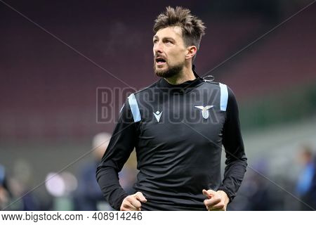 Milano, Italy. 14th February 2021 . Francesco Acerbi Of Ss Lazio   During The Serie A Match Between