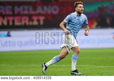 Milano, Italy. 14th February 2021 . Ciro Immobile Of Ss Lazio   During The Serie A Match Between Fc