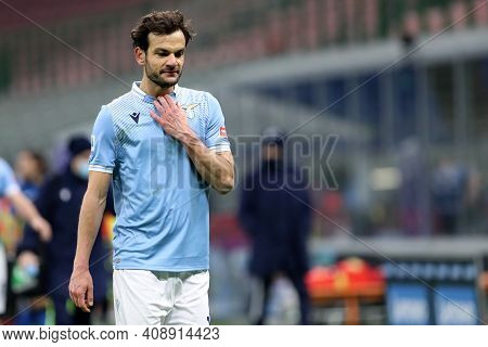 Milano, Italy. 14th February 2021 . Marco Parolo Of Ss Lazio   During The Serie A Match Between Fc I