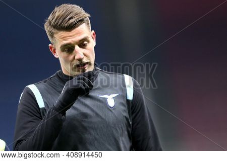 Milano, Italy. 14th February 2021 . Sergej Milinkovic-savic Of Ss Lazio   During The Serie A Match B