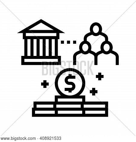 State Of People Benefits Line Icon Vector. State Of People Benefits Sign. Isolated Contour Symbol Bl