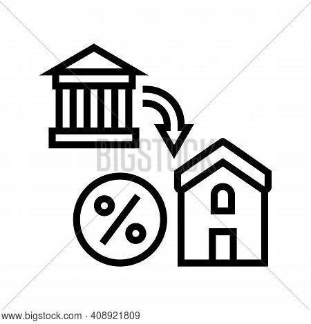 Housing Benefits Line Icon Vector. Housing Benefits Sign. Isolated Contour Symbol Black Illustration
