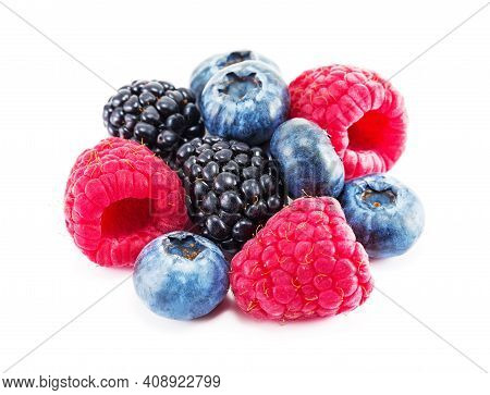 Fresh Ripe Berry On A White.