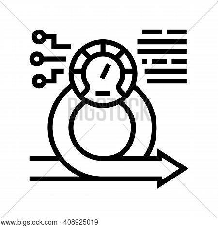 Speed Achievement Task Optimization Line Icon Vector. Speed Achievement Task Optimization Sign. Isol