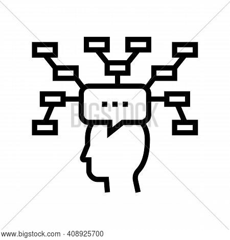 Decision Theory Line Icon Vector. Decision Theory Sign. Isolated Contour Symbol Black Illustration