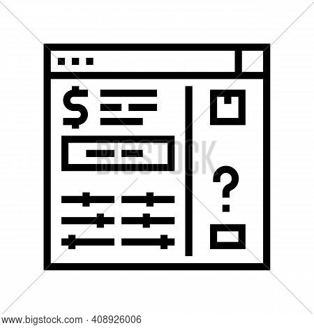 Invoice Approvals And Disputes Line Icon Vector. Invoice Approvals And Disputes Sign. Isolated Conto