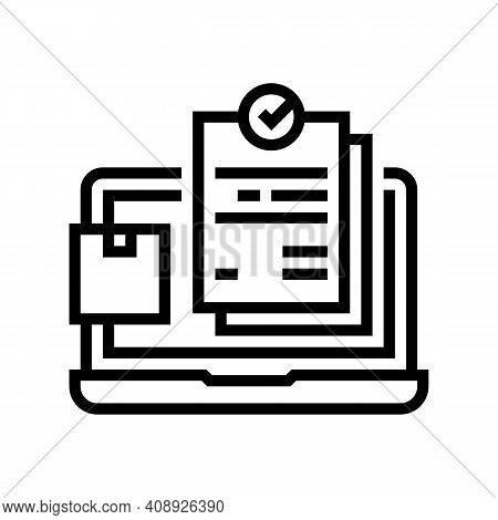 Internet Order And Procurement Line Icon Vector. Internet Order And Procurement Sign. Isolated Conto