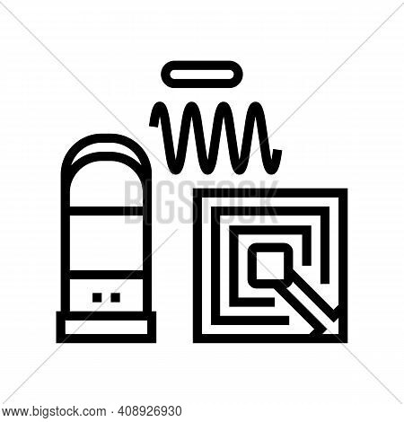 Technology Of Rfid Line Icon Vector. Technology Of Rfid Sign. Isolated Contour Symbol Black Illustra