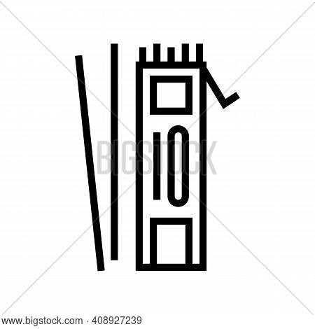 Electrodes For Welding Line Icon Vector. Electrodes For Welding Sign. Isolated Contour Symbol Black
