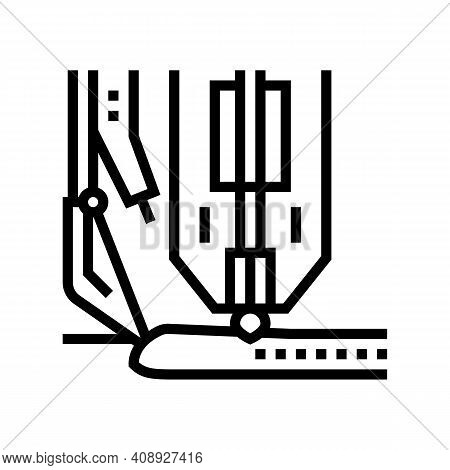 Hyperbaric Welding Line Icon Vector. Hyperbaric Welding Sign. Isolated Contour Symbol Black Illustra